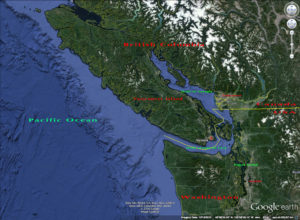 VI Salish Sea Google earth
