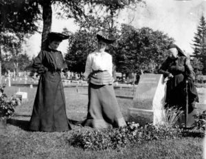 """Inscription visible on stone says: """"Husband, 1870 Bruno 1904, Lehman"""" Woman leaning on the grave is probably his mother. His widow, Helen, is not in the photo. chris_oconnor_iii originally shared this on 21 Jan 2013"""